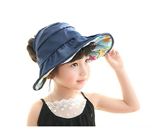 JGJ Kids Sun Hat UPF 50+ Summer Beach Hat Wide Brim Adjustable Reversible  Cap. Clothing 289cbeba1ee5
