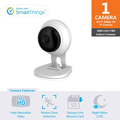 Samsung SNH-V6414BN SmartCam HD Plus 1080p Wi-Fi IP Monitoring
